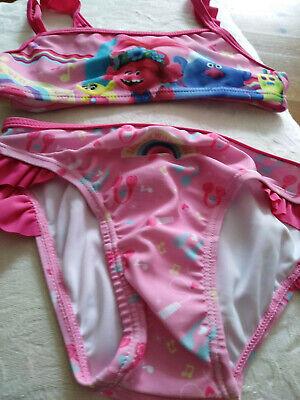 Mädchen-Bikini rosa 5 Jahre Trolls