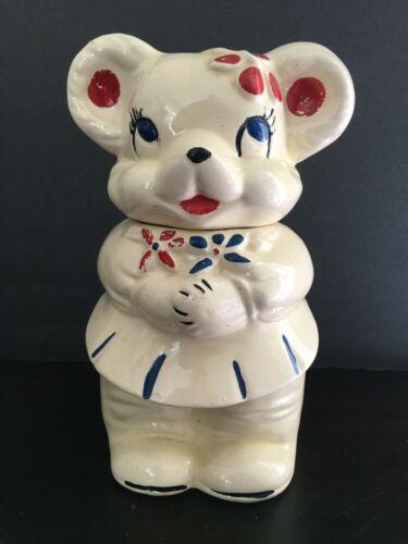 Vintage 1940s Turnabout American Bisque Bear 4 in 1 Cookie Jar