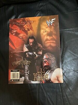 Vintage WWF The Undertaker & Kane 3 Ring Binder Folder 1999 WWE AEW WCW RARE