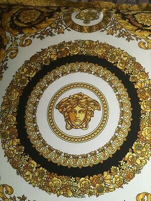 VERSACE PILLOW  MEDUSA CROWN with insert LUXURY GIFT SILK 2 sides color New SALE