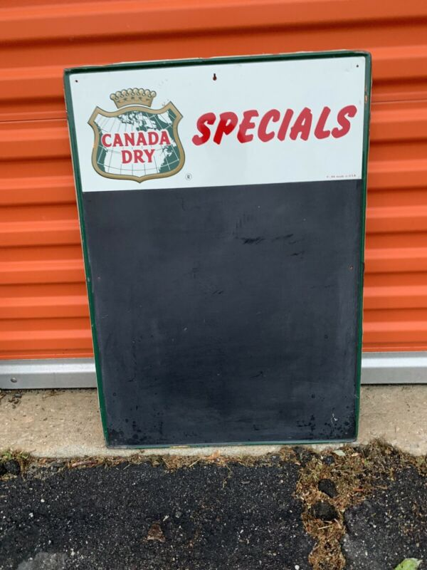 Vintage Large Metal Canada Dry Chalk Menu Board Advertising Sign 28x20