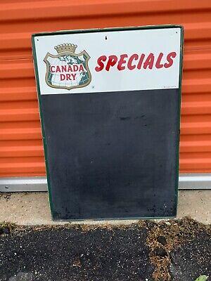 Vintage Large Metal Canada Dry Chalk Menu Board Advertising Sign 28x20