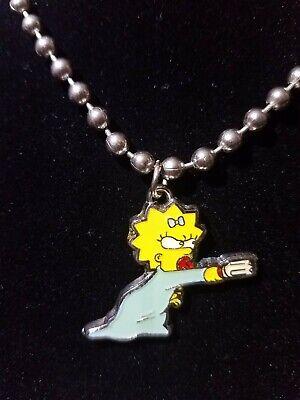 The Simpsons Movie Maggie Bar Fight Scene Broken Baby Bottle Fight Necklace Girl