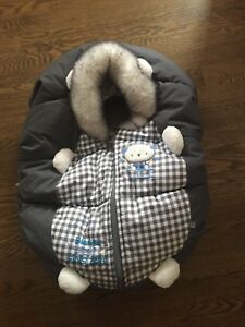 Infant car seat winter cover