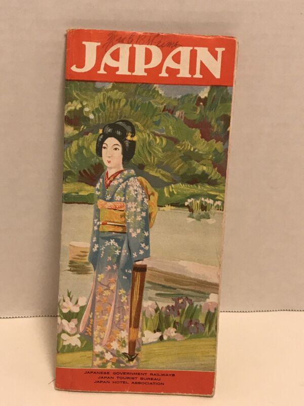 Vintage Japan Official Railways Tourist Hotel Guide post war tour guide htf