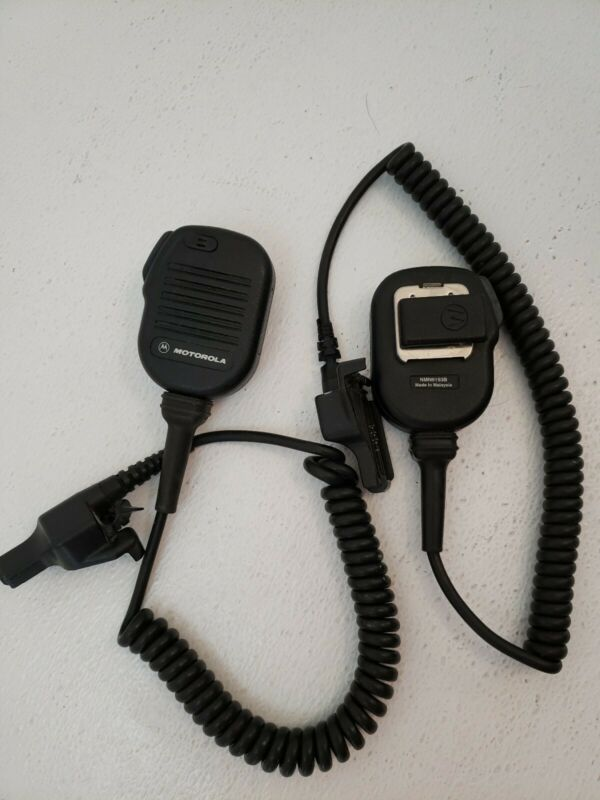 LOT OF 2 Motorola NMN6193B Noise Cancelling Remote Speaker Mic