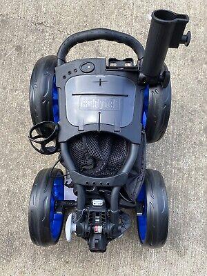CaddyTek 4 Wheel Golf Push Cart - Caddycruiser One V8 Compact Caddy Blue