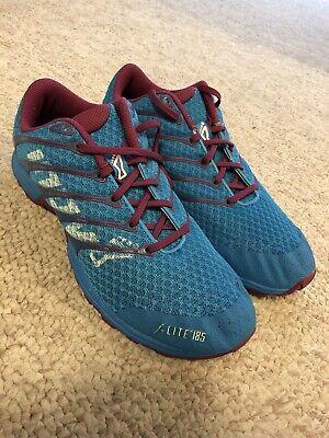 Inov-8 Women's F-Lite 185 CrossFit HIIT training Shoes Blue Size 7