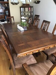 Trestle Table .12 chairs & Matching Sideboard