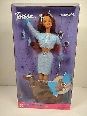 Teresa friend of Barbie Glam 'N Groom Set w/ Ruby the Dog 1999 Mattel 27272 NRFB