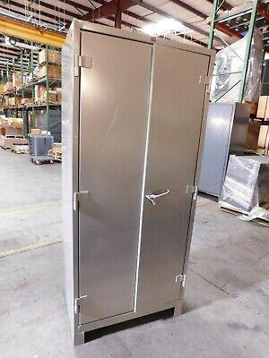 Lyon 4 Shelf Steel Storage Cabinet 82 H X 36 W X 24 D Damaged