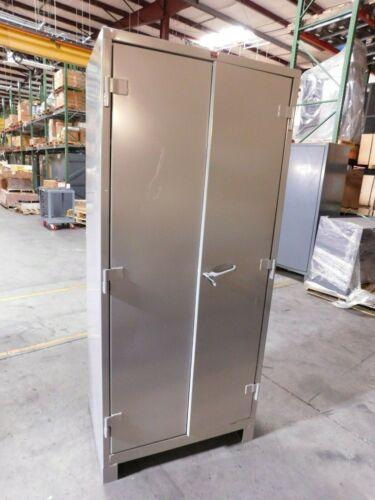 "Lyon 4 Shelf Steel Storage Cabinet 82"" H x 36"" W x 24"" D DAMAGED"