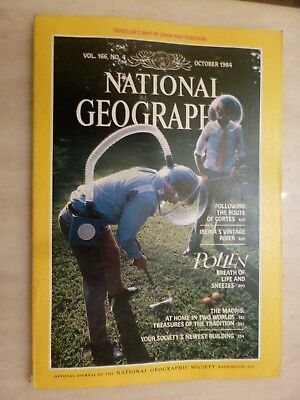 National Geographic- POLLEN BREATH OF LIFE AND SNEEZES - October 1984