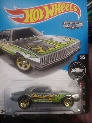2017 Hot Wheels Walmart Exclusive #18 Zamac Camaro Fifty 5/5 67 CAMARO Gold 5 Sp