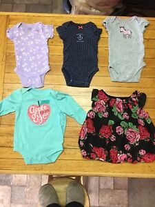 Girl clothing, newborn to 12 months