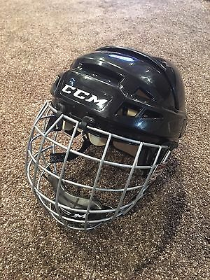 CCM V08 Helmet with Cage, Medium Black, Non Pro Stock