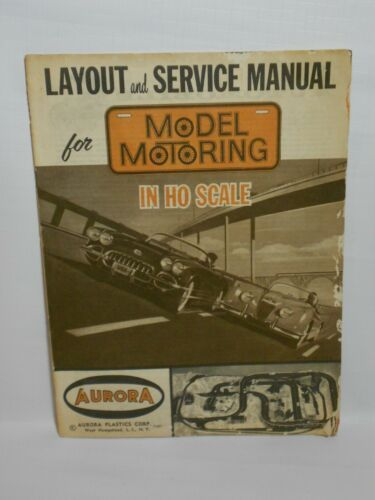 Vintage 1961 Aurora HO Model Car Service & Layout Manual **POOR CONDITION**