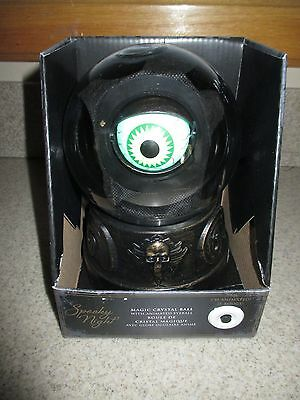 NIB HALLOWEEN Magic Crystal Ball w/Animated Eyeball That Talks, Lights Up, Moves (Ball That Lights Up)