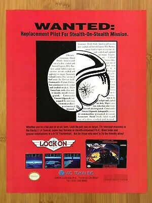 Lock On SNES Super Nintendo 1993 Vintage Print Ad/Poster Official Authentic Art