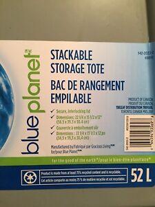 Blue planet storage bins