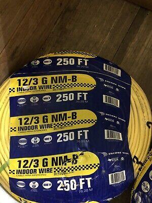 123 Wground Romex Indoor Electrical Wire 250 Feet