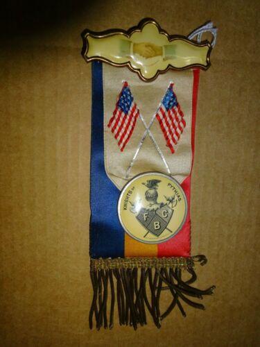 Knights of Pythias Lodge In Memoriam Pin Ribbon Regalia Whitehead & Hoag Co 1894