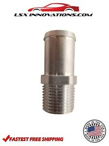 3/8 NPT to 5/8 Hose barb Adapter Fitting Bare Aluminum Made in USA