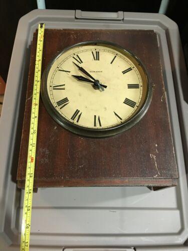 Vintage Edwards and Co. Norwalk, Conn. Wall Wooden Quartz Clock