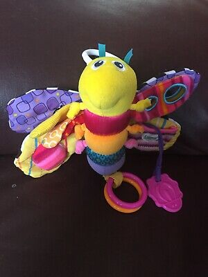 Lamaze Firefly Butterfly Infant Baby Teether Activity Rattle Crinkle Hang Toy