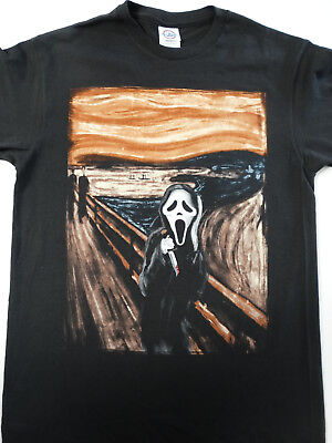 Scream Ghost Face With Knife The Scream Abstract Horror Movie T-Shirt - Scream Knife