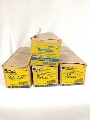New In Box Square D 15a Hom115 1 Pole 15amp Circuit Breaker Lot Of 40