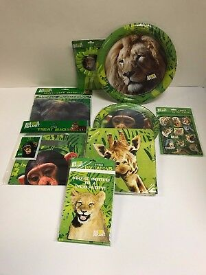 ANIMAL PLANET PARTY SET, PLATES, NAPKINS, ETC - - Animal Planet Party Supplies