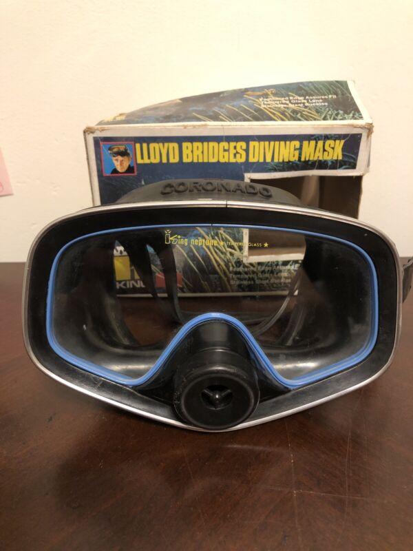 Vintage GSD 8009 Catalina King Neptune Tempered Glass Scuba Diving Mask ITALY