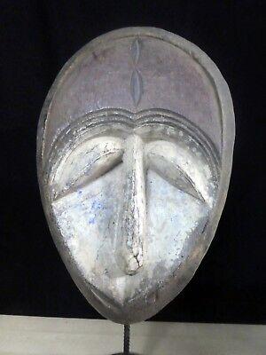 Old Tribal Large Kwele  Mask Gabon Africa Fes-Gb1121