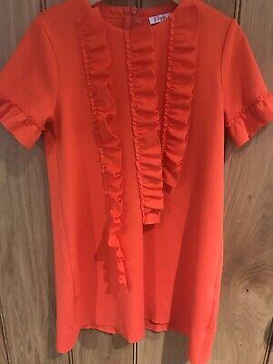 il Gufo Girls Bright Orange Dress Age 6 Years