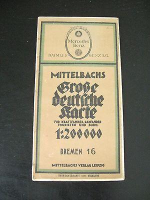 alte Mittelbachs Karte Landkarte Bremen Nr.16. 1 : 200000 Wilhelmshaven Kiel