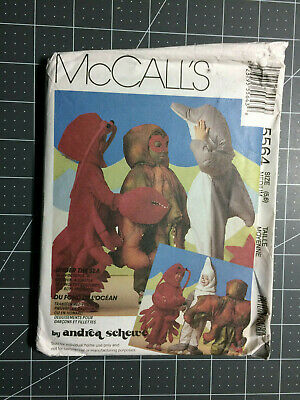 McCall's #5564 ~ Pattern Sea Creature Dolphin Lobster ~ Child 5 & 6 ~ FF / UC](Lobster Costume Pattern)