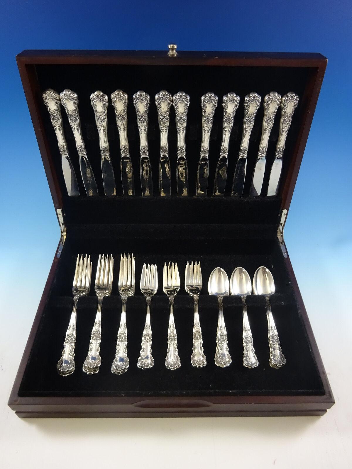 buttercup by gorham sterling silver flatware set for 12. Black Bedroom Furniture Sets. Home Design Ideas