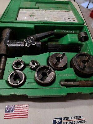 Greenlee 7906sb Quick Draw Hydraulic Punch Slugbuster Set Ed4u-8121