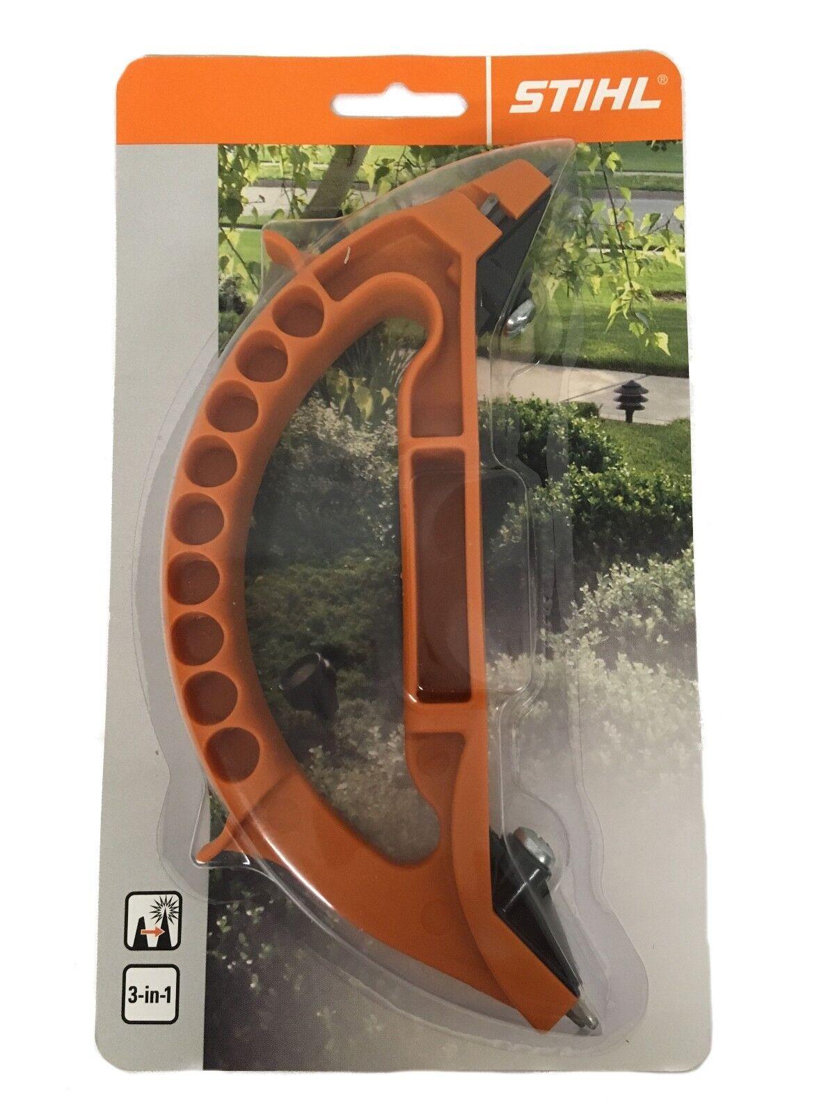 Stihl Schärfwerkzeug 3-in-1 für Ast- und Gartenscheren, Äxte, Beile, Messer