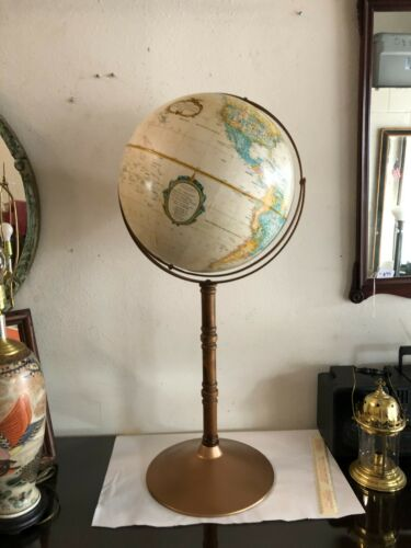 """Vintage Globe 16"""" on stand dated between 1983 - 1986"""