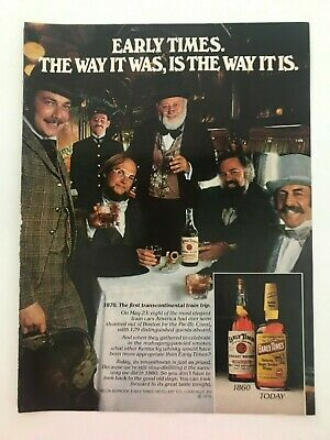 Early Times Kentucky Bourbon Whisky 1979 Vintage Print Ad for sale  Miami Beach