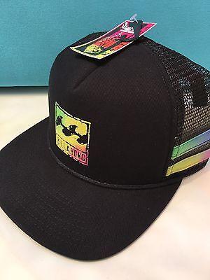 Billabong Men's Reissue Black Trucker Mesh SnapBack  flatbill Limited Hat Billabong Black Hat