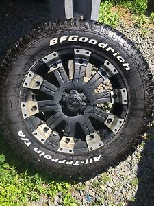305/55 R20 BFG ALL TERRAIN on 20x10 ultra wheel mammoth