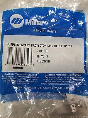 Miller 210109 Supplementary Protector Man Reset 1p 25a 250vac Fr