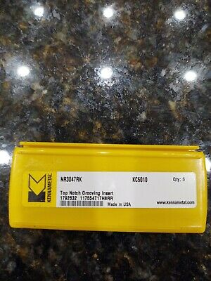 Kennametal Nr3047rk Kc5010 Carbide Inserts 5 Pack Free Shipping