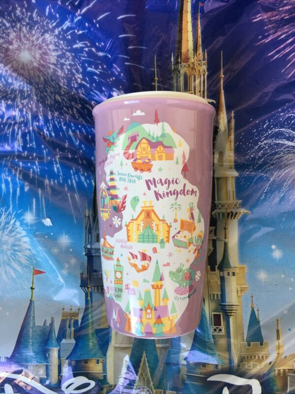 Disney Parks 2020 Starbucks Magic Kingdom Park Icons Tumbler Coffee Mug New