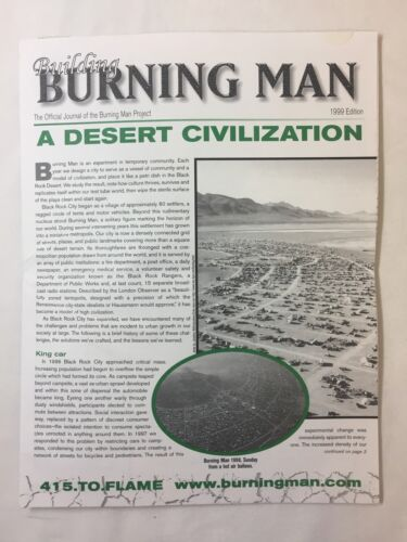 1999 BURNING MAN mailout newsletter