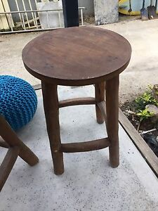 Bar stools solid timber outdoor x 3 Oak Flats Shellharbour Area Preview