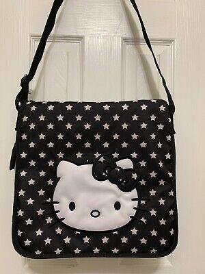Sanrio Hello Kitty Black Messenger Bag Laptop Multiple Pockets Adjustable Straps - Hello Kitty Laptop Bag